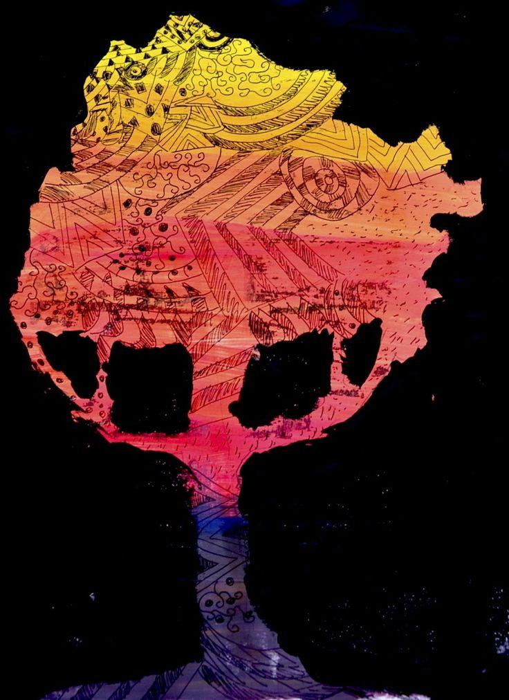Per realizzare questi alberi magici abbiamo dipinto delle gradazioni cromatiche dal giallo al rosso fino al viola, utilizzando i tre colori primari e sfumandoli tra loro. Le gradazioni sono fatte a…