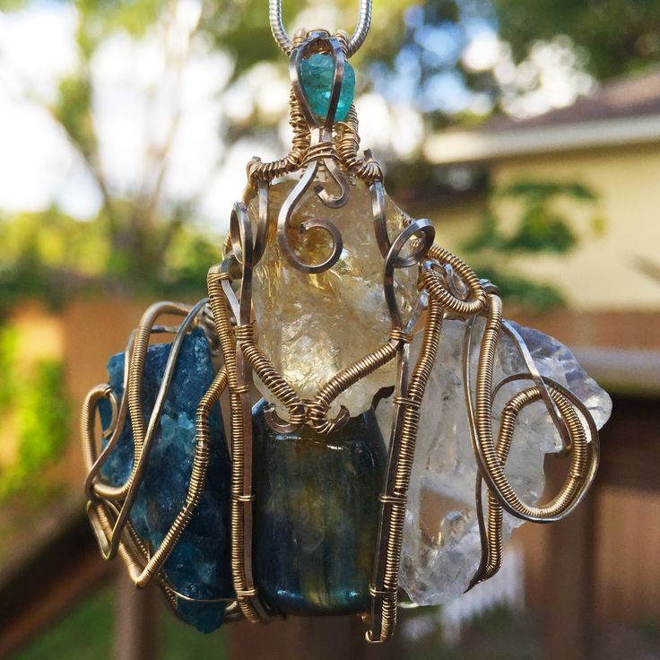 The Royal Rindlebrin... Available only at www.EarthStarCreation.com  #Blueberyl #Labradorite #Apatite #FadenQuartz
