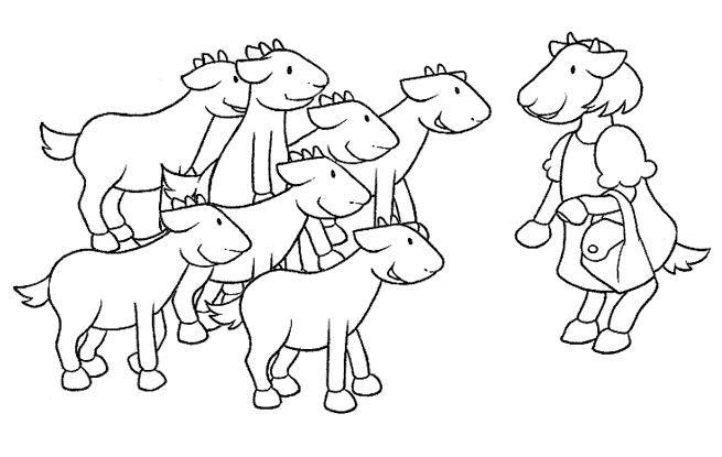 Dibujos Para Pintar De Los 7 Cabritillos Cabritillos
