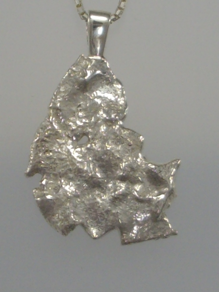 Sterling Silver Reticulation, Pendant Only, One Off Piece, (length 32mm) $ 50  Box Chain 45cm $20 www.carellajewellers.com