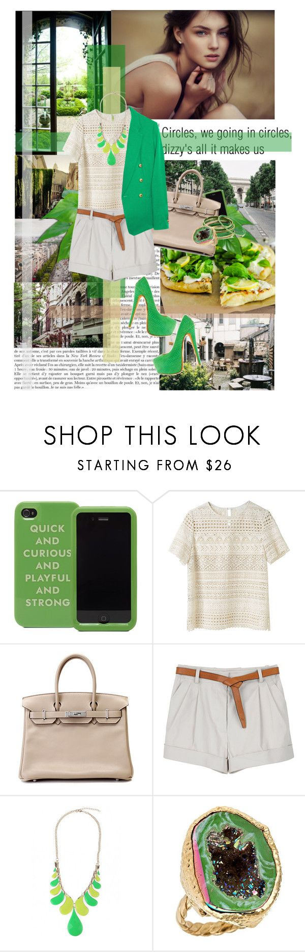 """№ 67"" by dasha-v ❤ liked on Polyvore featuring Vous Etes, Zara, Kate Spade, Band of Outsiders, Hermès, 3.1 Phillip Lim, Christian Louboutin, Amrita Singh and Dara Ettinger"
