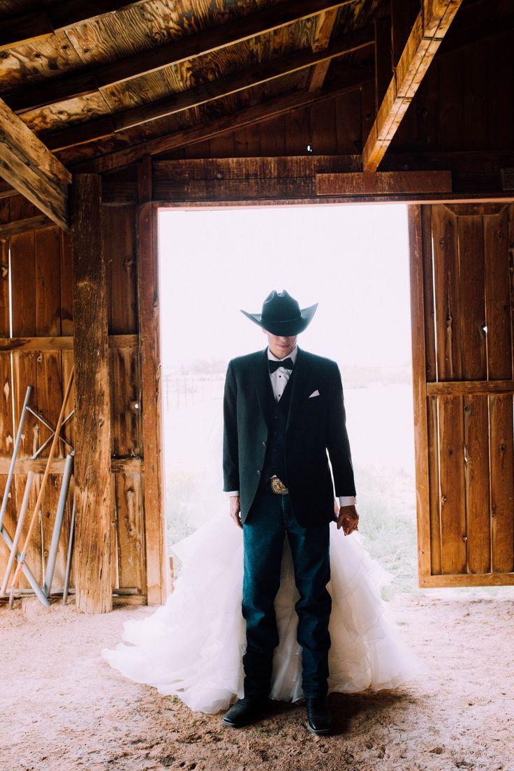 Www.instagram.com/griffithimaging  rustic wedding decor barn wedding western wedding cowboy wedding first look