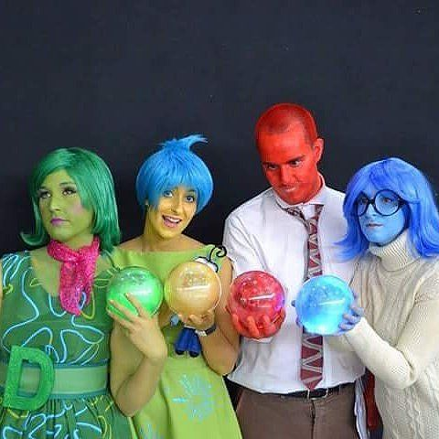 Disgust, Joy, Rage, and Sadness — Inside Out Halloween costume
