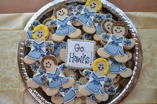 cheerleader cookies. Would be perfect for our team.