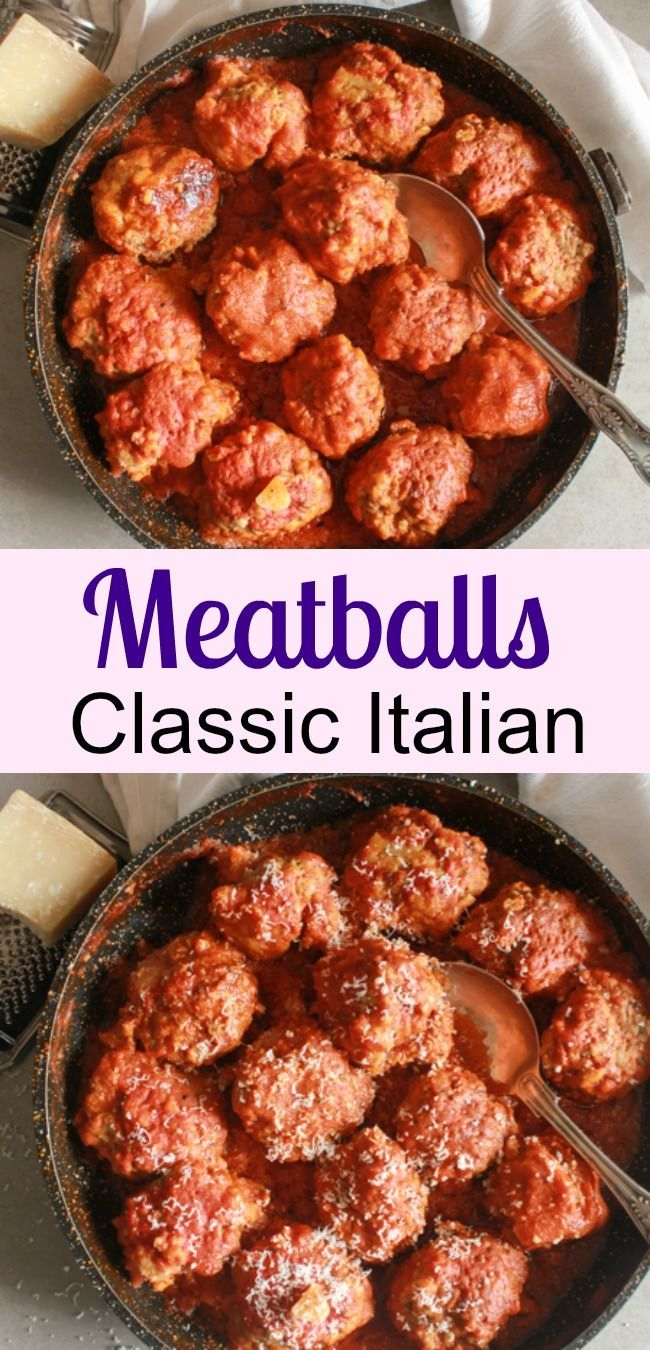 Meatballs, the best and most delicious authentic homemade Italian recipe for meatballs (polpette) in a tasty tomato sauce. Dinner is ready!|anitalianinmykitchen.com