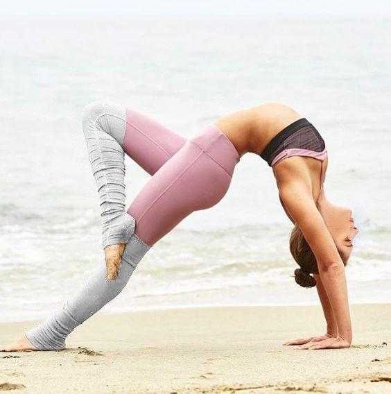 NEW Bi-color yoga Pants - $36