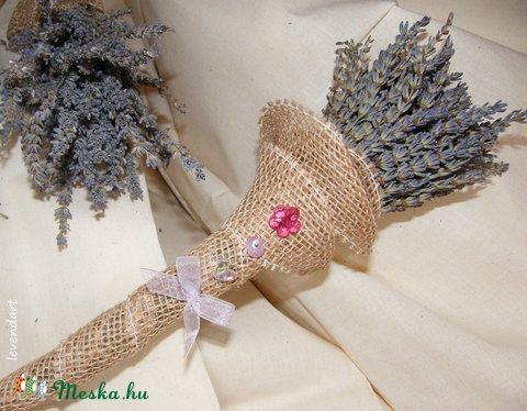 Levendula csokor cerceruska, Esküvő, Mindenmás, Esküvői csokor, Esküvői dekoráció, Meska