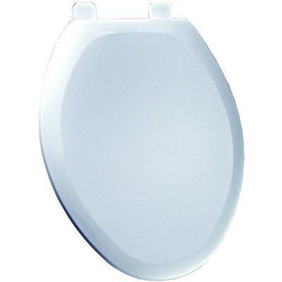 American Standard 5727119.020 Cadet White Plastic Elongated Slow Close Toilet Seat