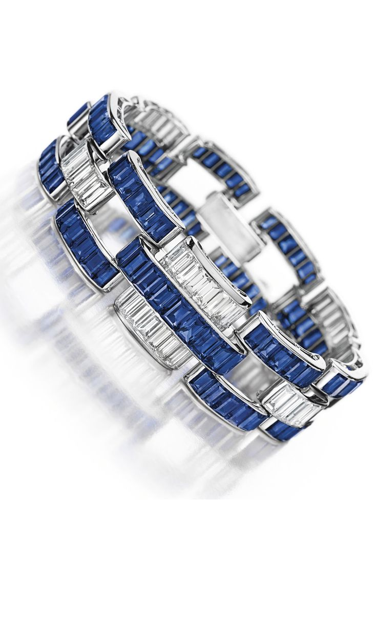 Art Deco Sapphire and Diamond Bracelet by Paul Flato