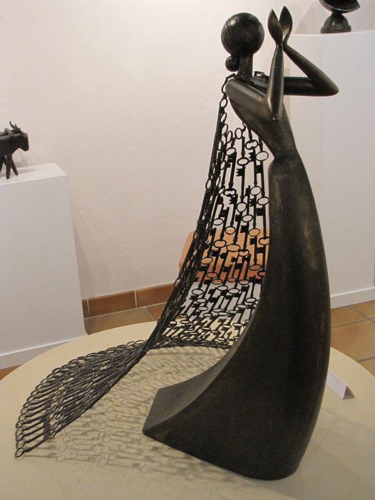 Figuras de esculturas abstratas