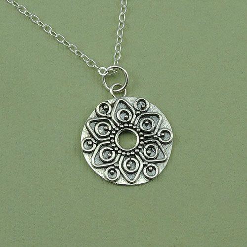 Mandala Necklace - sterling silver mandala jewelry - women's necklace - aztec jewelry - gift on Etsy, $38.66 AUD