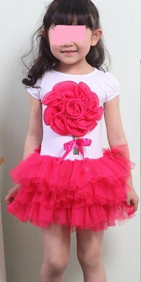 tutu šaty s květinou v. 104 116 3ks