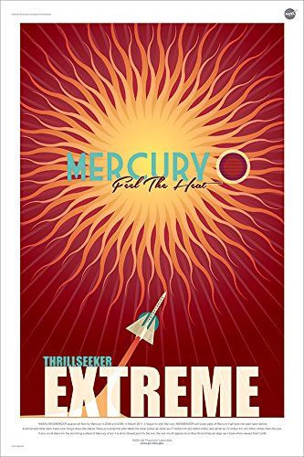 NASA Mercury Travel Poster | Solar System Travel Posters ...