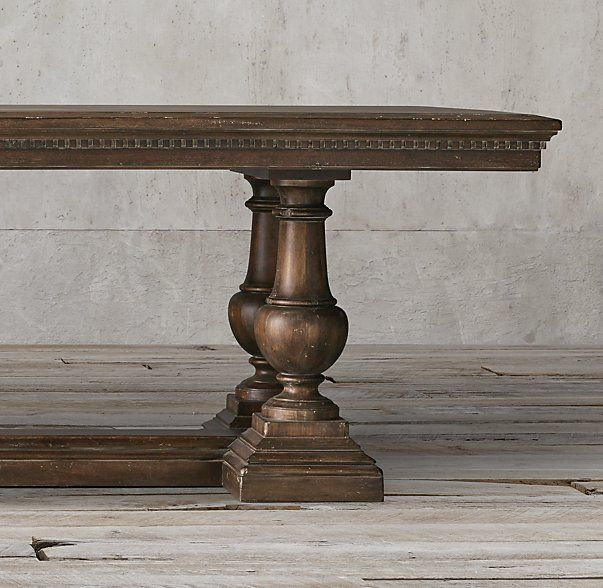 St James Rectangular Extension Table In Antiqued Coffee Also Available Dry Oak Dining TableRestoration HardwareFurniture