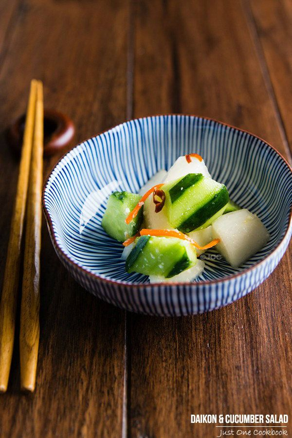Daikon and Cucumber Salad | Easy Japanese Recipes at JustOneCookbook.com