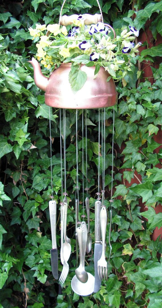 Tea Pot n Spoons wind chime