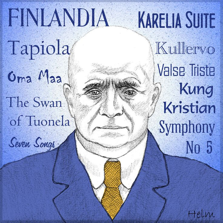 Jean SIBELIUS - a portrait art print of the great Finnish composer by PaulHelm on Etsy