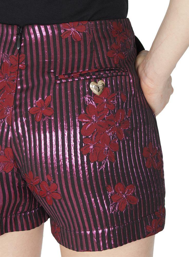 Naughty Dog FW1617 jacquard lurex shorts with autumn flowers print!