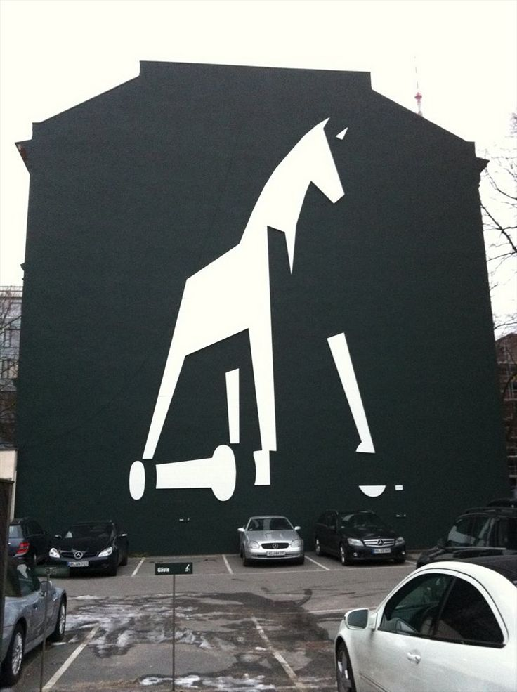 Troy Horse: Wall Art, By Matte, Of Young, Horses, Street Art, Trojan Out, Off Logos, Offices Interiors, Streetart