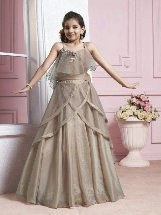 3b26cdc997 Beige Color Designer Choli Suit, Girls Lehenga Choli, Designer Girls  lehenga choli, Designer