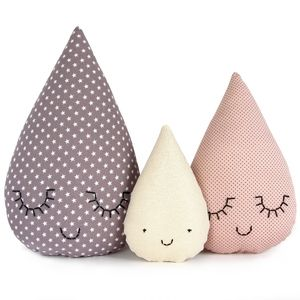 Famille goutte Dream - cushions in the shape of drops!