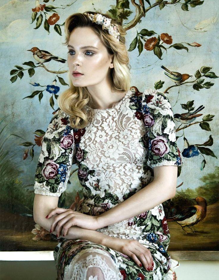 Nikolay Biryukov Lenses an Homage to Renaissance Style for Elle Ukraine October 2012
