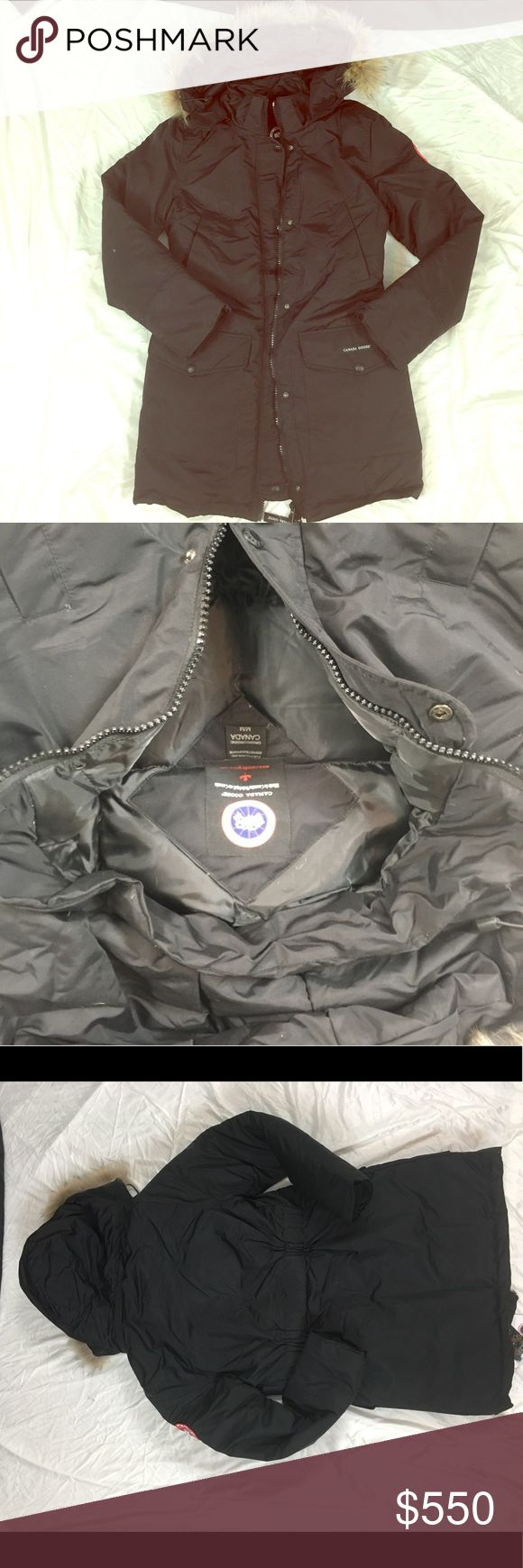 Canada Goose Women's Trillium Jacket New Canada goose trillium jacket. Coyote fur hood and goose down fill for extreme warmth. Offers welcome. Canada Goose Jackets & Coats
