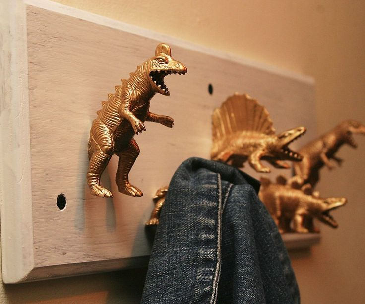 So my dear beloved wanted dinosaur coat hooks, having seen a few on Etsy, I wasn't impressed, none of them were coat hooks, they were coat hooks with dinosaurs on. I said yes. This coinciding with Jurassic World was accidental but pleasing - since we'd been making Jurassic Park jokes about the dinosaurs currently littering the place. She appeared with a present one day - toy dinosaurs. They're all hollow, on top of that, when I got as far as a test fit she complained! Of course the dinosaurs…