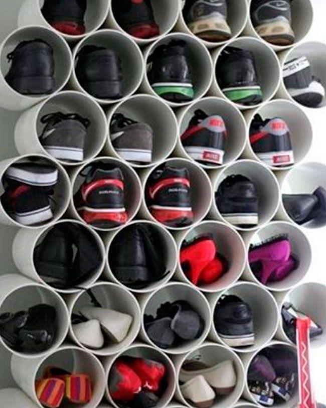 12 практичных способов организовать обувную полку