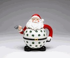 """Santa plays Golf"" Christmas Teapot: Plays Golf, Design Golf, Christmas Teapots, Santa Teapots, Golf Club, Teas Pot, Santa Plays, Whimsical Teapots, Golf Santa"