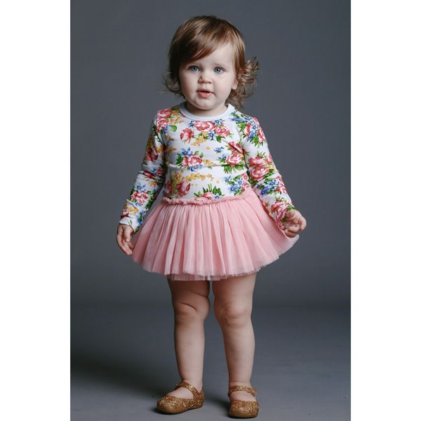 Rock Your Baby AW15 | Winter Magic Floral Baby Dress