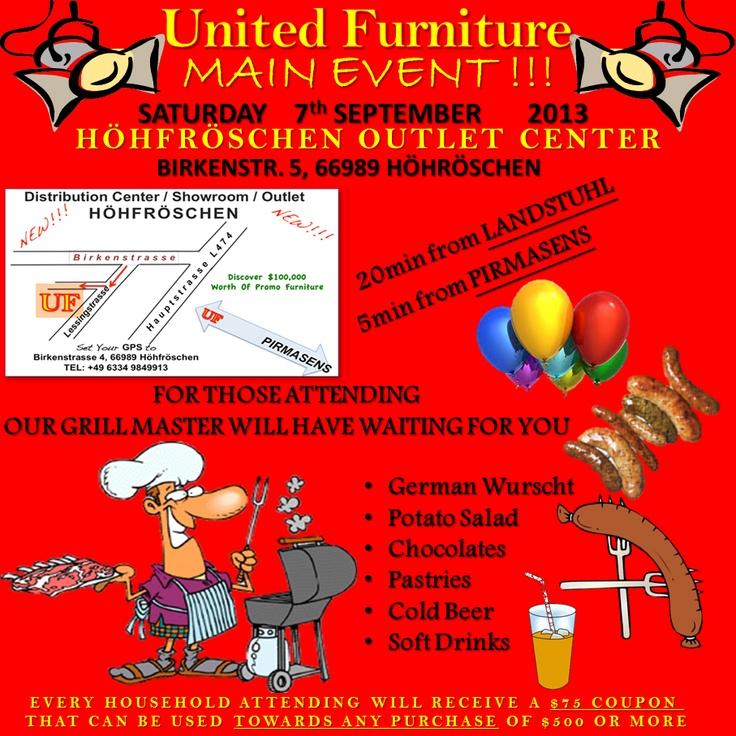 United Furniture Raffle, Main Event, September 7th 2013