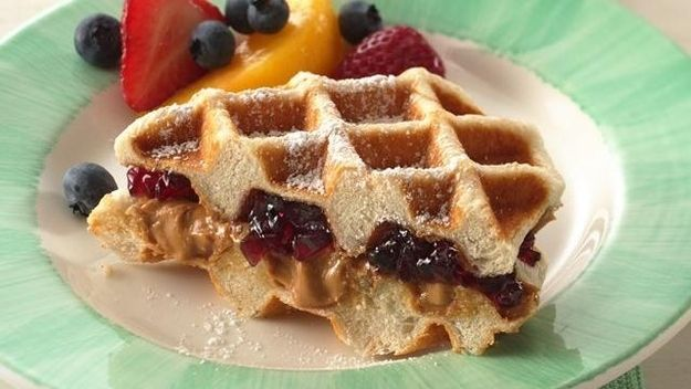 Peanut Butter & Jelly Waffle Sandwich | 55 Peanut Butter And Jelly Recipes