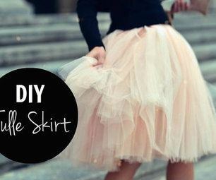 Quick tutorial on how to make a tulle skirt. I wonder if it'd work with layers of lace!