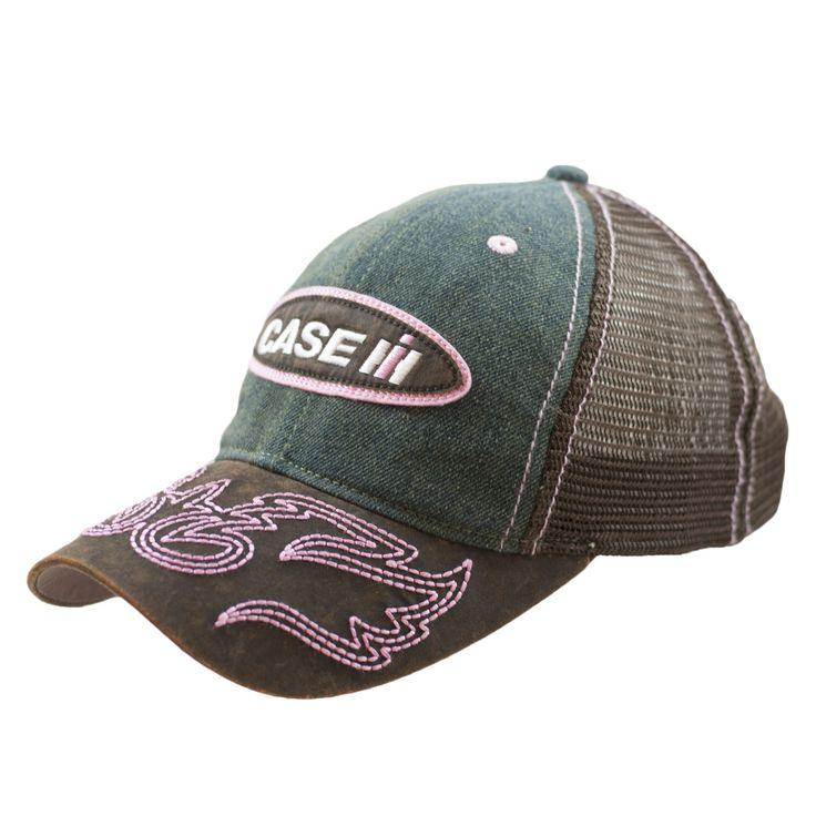 Case IH - Women's Washed Denim And Oilcloth Cap With Embroidered Oilcloth Appliqué