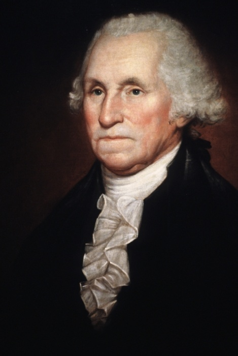 George Washington, by Rembrandt Peale (when he was 17 years old), ca. 1794
