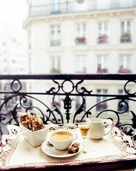 Breakfast on the balconyTeas Time, Dreams, French Breakfast, Paris Balconies, Mornings Coffee, France, Places, Terraces, Paris Hotels