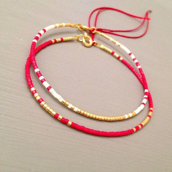 Red String Bracelet String Bracelet Simple by ToccoDiLustro