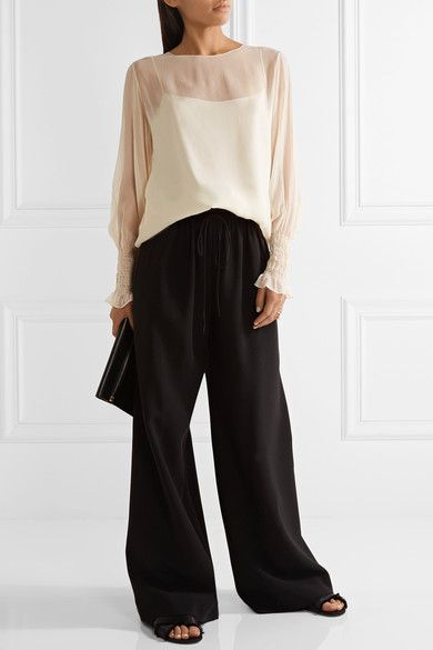 The Row - Laver Crinkled Silk-chiffon Blouse - Neutral - x small