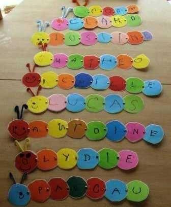 Un gusanito feliz que nos enseña las letras de nuestro nombre