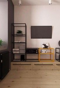 Un pequeño apartamento con toques industriales · A small, industrial & masculine apartment