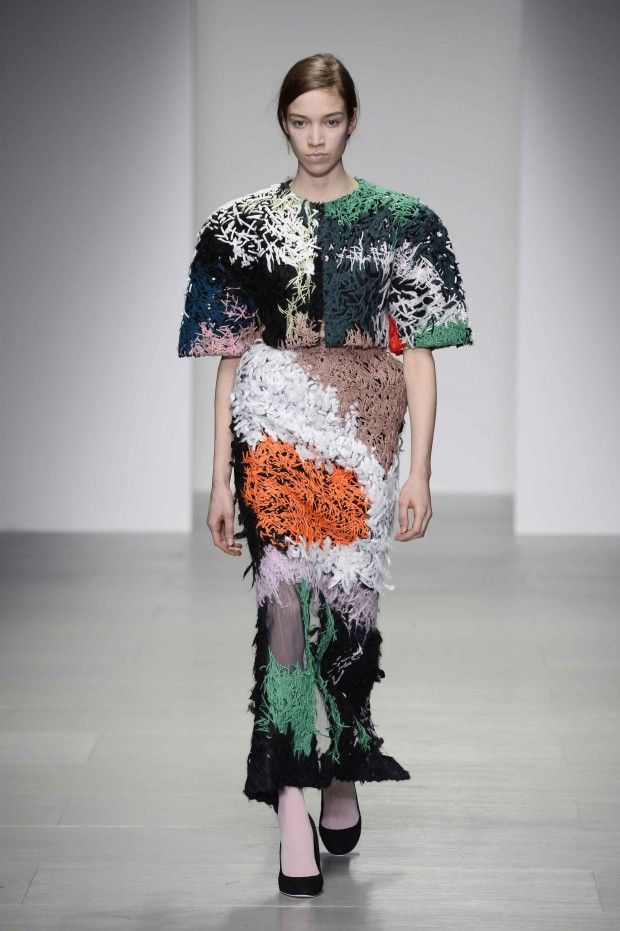 Anna Hirlekar, MA Fashion graduate 2014 Central Saint Martins UAL, one of the 11 selected for Fashion Scout Graduate Showcase at London Fashion Week - See all 11 on the ARTS THREAD blog http://blog.artsthread.com/2014/08/fashion-scout-graduate-showcase-2014/