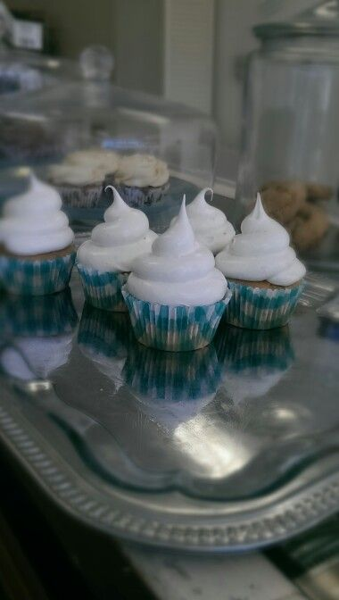 Gluten free Vanilla Cloud Cupcakes