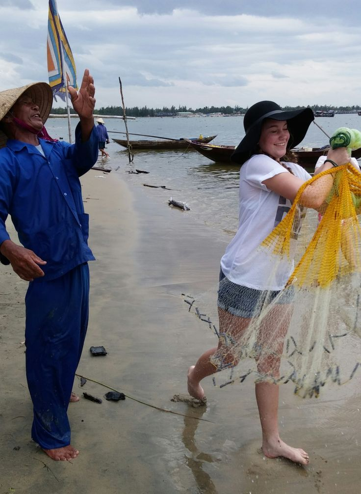 Teach someone to fish and you will feed them for life. #VietnamSchoolTours #EcoTour #HoiAn