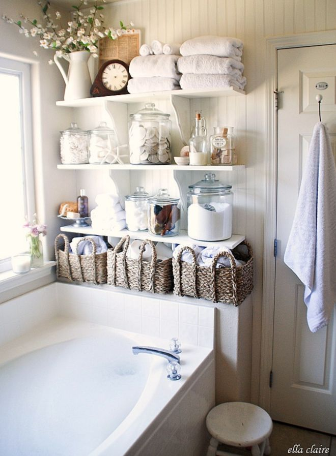 Bead boards, open shelving, tile, stone and lots of wood make the style simple, yet elegant...