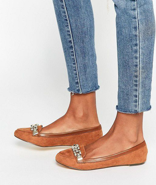 asos chain trim loafer