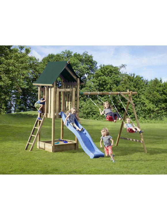 Mr Gardener Kinderspielanlage Enija 350 X 200 X 300 Cm Sandkasten Wellenrutsche Schaukel