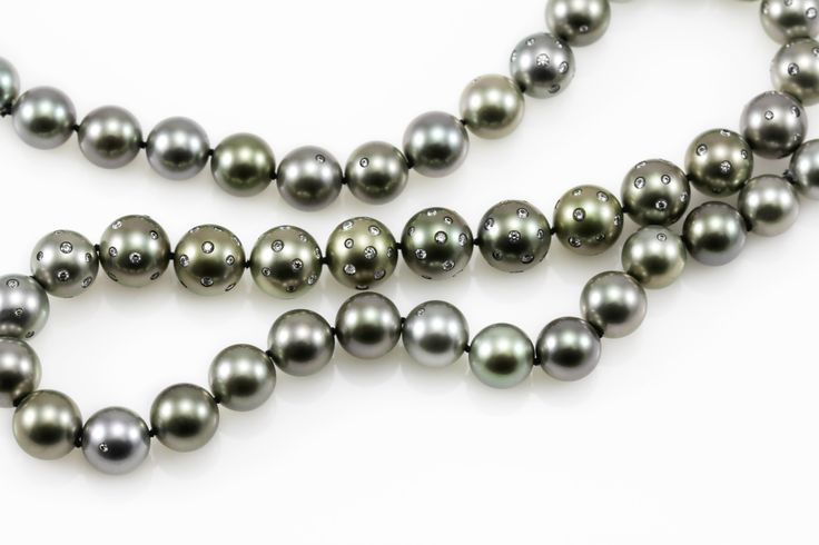 "Looking for beautiful and unique pearl strand, then look no further than Lust Pearls ""Lust Sophisticate"" strand Tahitian pearls 10 to 11.6 mm embellised with 4.15ct brilliant cut white diamonds.  For more details email lust@lustpearls.com or visit our new website, www.lustpearls.com.au"