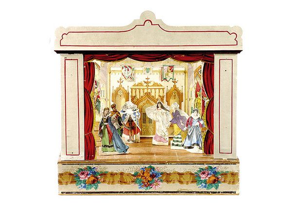 Ideal large German miniature theatre by Jos Scholz of Mainz Miller us Antiques u Collectables