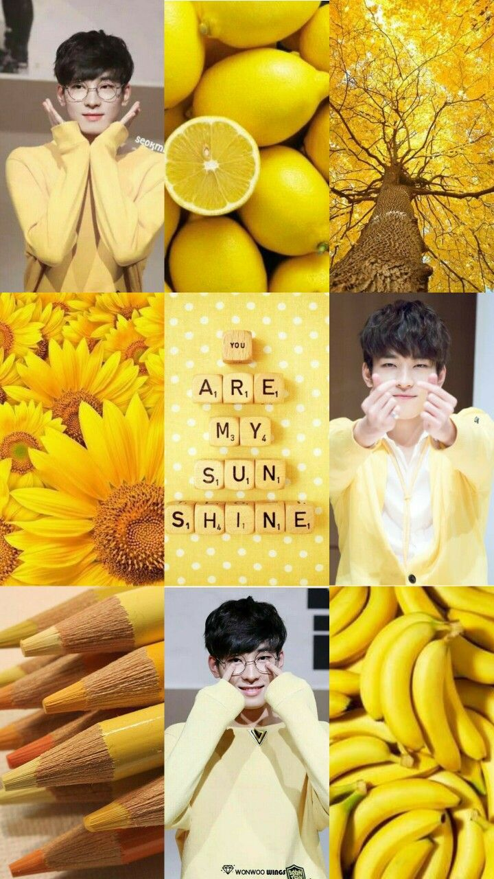 Yellow Aesthetic Wallpaper Collage
